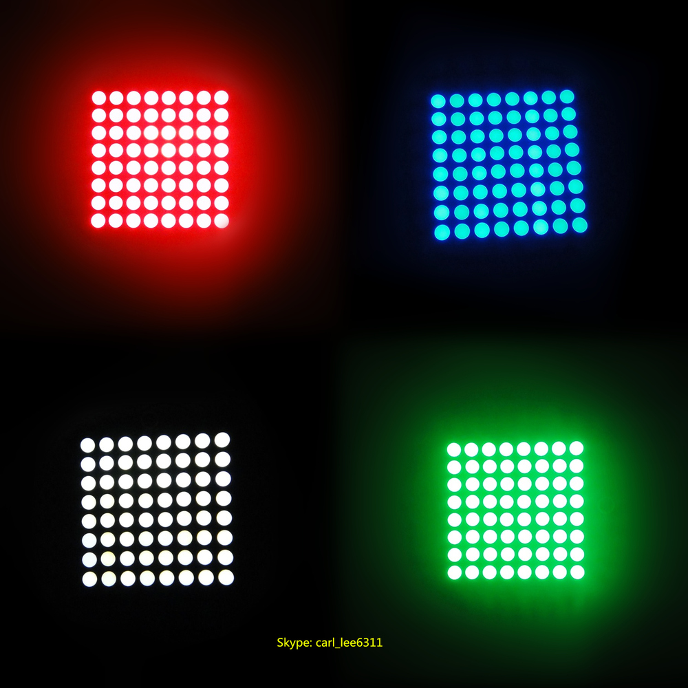 Bright led indoor ultra white led matrix for lift 8x8 dot led matrix