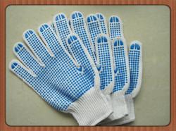 pvc dot industrial gloves one side dot knite gloves