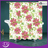 Polyester Fabric Christmas Shower Curtain With Flower