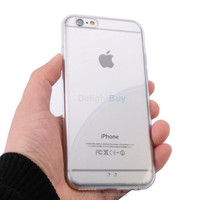 Soft TPU side hard PC back case for iphone 6 / 6s, back is hard, side is soft