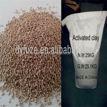2015 hot sale granular bentonite activated clay for jet fuel refinery