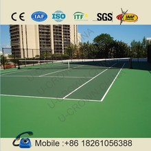 Green color indoor outdoor flooring for tennis court, basketball court