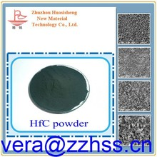 Hafnium carbide powder used as additives in alloy and cermet products thin film HfC using in coating, hafnium carbide fiber.