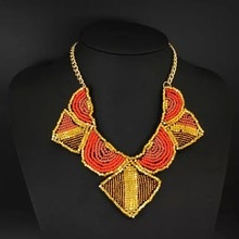 Fashion indian beads jewelry necklace accessories used clothing dresses