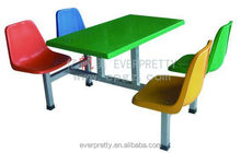 Hot sales Canteen Table 8 chairs in School, used restaurant coffee table and chair