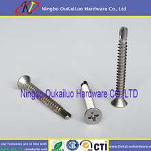 Self Drilling Screw carbon and stainless Hex washer Head Drilling Screw with Wings with EPDM Washer/self drilling screw from Yuy
