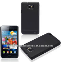 Wholesale Black Skin Cover Protective For Samsung Galaxy S2 I9100 Rubber Cell Phone Case