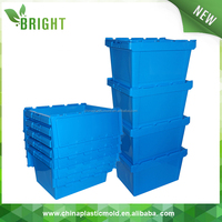 plastic folding bulk crates with cover