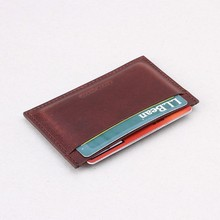 Leather wallet minimalist for credit cards,Italian Leather Mini Card Holder, Slim Card Case best gift for men and women