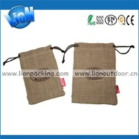 Recyclable Cosmetic Packaging Jute Hessian Cloth Pouch Burlap Bags Jute Bags