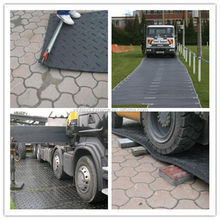 HDPE temporary crane ground mat for road