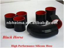 Black 2.25''inch(57mm) Silicone Straight Hose