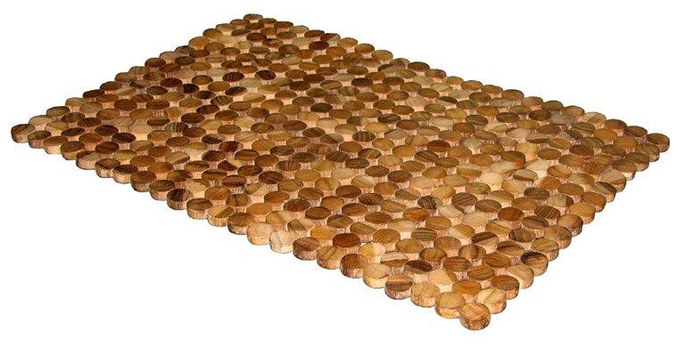 Madera alfombras de ba o alfombrillas de ba o - Alfombras de madera ...