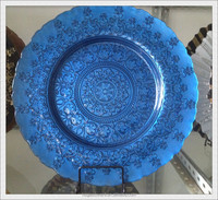 Hand Made Spanish/Portuguese Italian Sytle Dinner Plates for Wedding Made In China