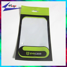 front window printed back ziplock cellphone case polybag packing