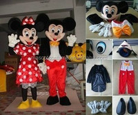Mascot costume mickey & minnie inexpensive sale
