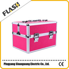 Wholesale Aluminum Double-open Cosmetic Makeup Box Jewelry Cases