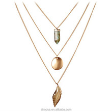 Fashion jewelry gold filled pendant necklace multi-layer necklace jewelry fashion