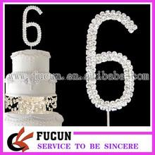 Birthday rhinestone number cake for wedding favors