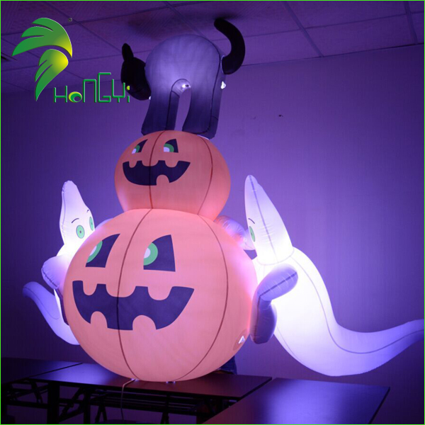 pumpkin with ghost (2)