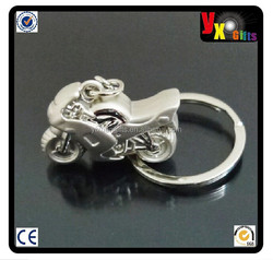 3D Motorcycle Key Ring Chain Motor Silver Keychain New Fashion Cute Lover Gift/metal keychain