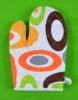 100% printing design oven mitts gloves for kitchen cooking