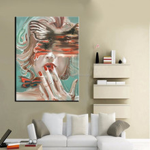 New Design High Quality Low Price Handmade Abstract Lady Portrait Oil Painting On Canvas Abstract Woman Portrait Painting