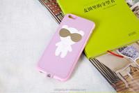 Shenzhen supplier super thin PU+TPU case cartoon style case for iphone 6