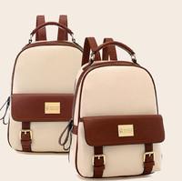 mochila rushed new 2015 fashion women backpacks patchwork bear girl student school bags pu leather travel rucksack