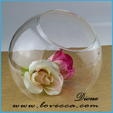 cheap clear glass vase / blown glass vase / big cylinder decorative glass vase