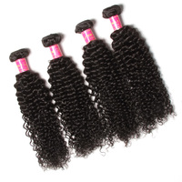 Can Be Dyed Three Tone Human Curl Wet And Wavy Brazilian Hair