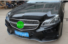 Auto parts Replacement Full star Chrome Style Front Center Grille For Mercedes Benz E Class W212