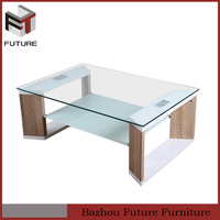 Stylish modern design tempered glass top Coffee Table