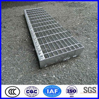 alibaba China galvanized steel frame lattice for stair treads