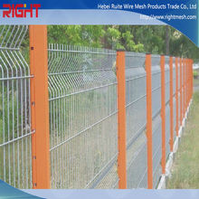 Three Cornered Bending Wire Mesh Fence / Ecnomical 3D Curved Wire Mesh Fence / 3D PVC Coated Decorative Bending Wire