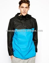Mens Fashion Water Repellent Rain Jacket Half zipper Openning Jacket BY rain Waterproof Men Rain Jacket