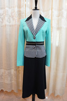 Ladies formal office uniform two pieces long skirt suit AS112#
