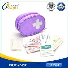 With CE FDA Certificate convenient carry popular travel first aid kit for kids