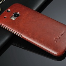 2014 Vintage Wholesale Leather Cheap Mobile Phone Case for HTC M8