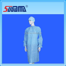 Disposable medical hopital gown , nonwoven fabric