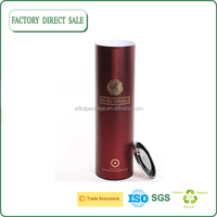 Factory direct sale food grade natural craft paper wine package tube