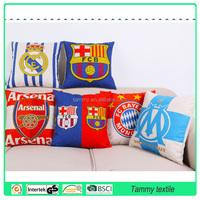 wholesale custom printed chevron linen cushion