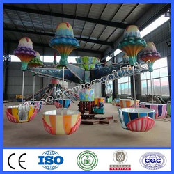 Popular amusement park ride unfettered jellyfish