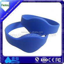 Factory price&Custom logo printing gym membership cards wristband type from alibaba China