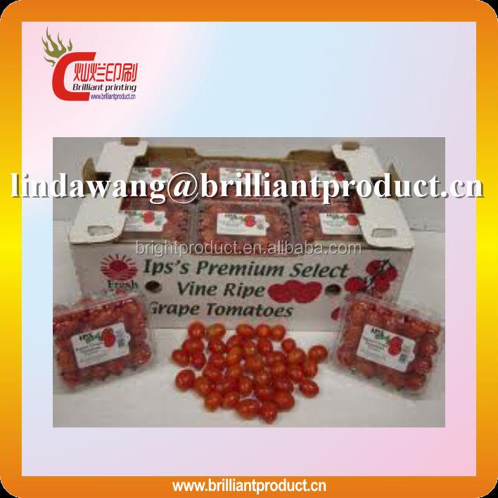 Yüksek kaliteli 3 katman flüt domates ambalaj kutusu/meyve ambalaj kutusu