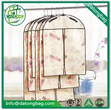 Ladies travel garment bag nonwoven suit cover clothes bag with pattern