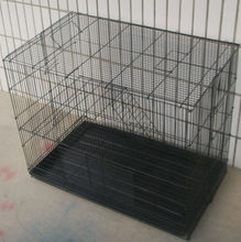 heavy duty galvanized folding metal mesh cage for cats