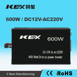 Anodized aluminum case with great durability 12V to 220V 600W dc ac outdoor power supply car power inverter KEX-3600
