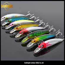 New Product SeaKnight 7 pieces Minnow Artificial Fishing Bait, Plastic Hard Fishing Lures, Fishing Bait