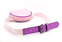 2015 new fashion cute trendy pu elastic belt with a decorative bag